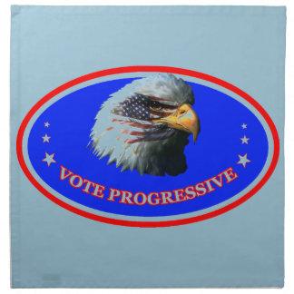 VOTE PROGRESSIVE NAPKIN