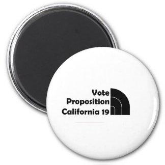 Vote Prop 19 2 Inch Round Magnet