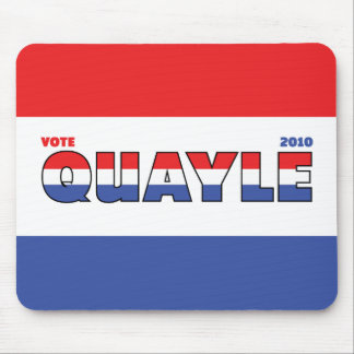 Vote Quayle 2010 Elections Red White and Blue Mouse Pad