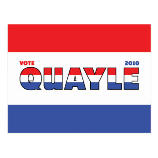 Vote Quayle 2010 Elections Red White and Blue Post Card