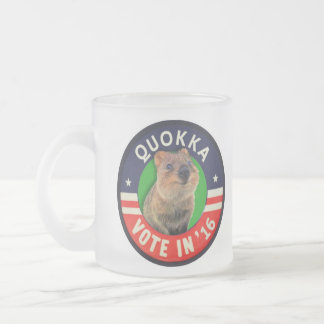 Vote Quokka in 2016 for President 10 Oz Frosted Glass Coffee Mug