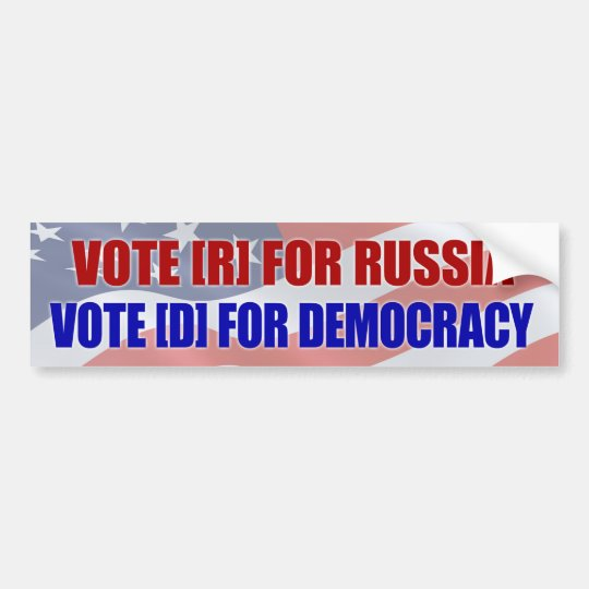 Vote r for russia bumper sticker
