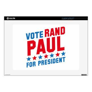 """Vote Rand Paul 15"""" Laptop Skin"""