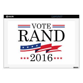 """Vote Rand Paul 2016 17"""" Laptop Skin"""