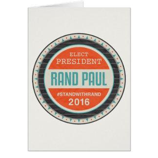 Vote Rand Paul 2016 Card