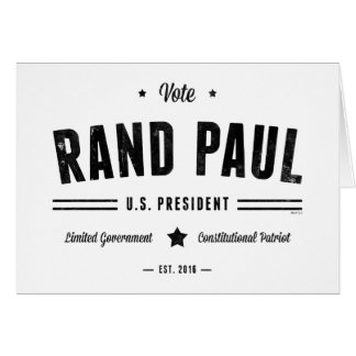 Vote Rand Paul 2016 Card