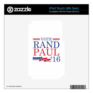 Vote Rand Paul 2016 iPod Touch 4G Decals