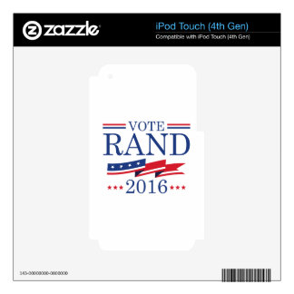 Vote Rand Paul 2016 iPod Touch 4G Skin