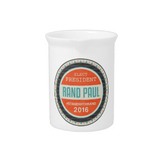 Vote Rand Paul 2016 Beverage Pitchers