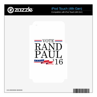 Vote Rand Paul 2016 Skins For iPod Touch 4G