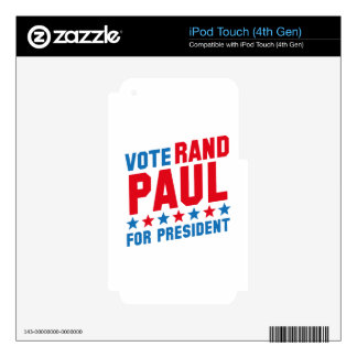 Vote Rand Paul Decal For iPod Touch 4G