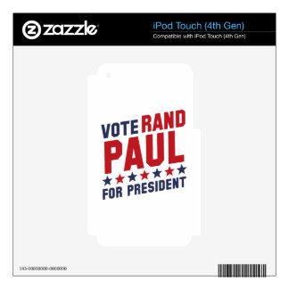 Vote Rand Paul iPod Touch 4G Skin