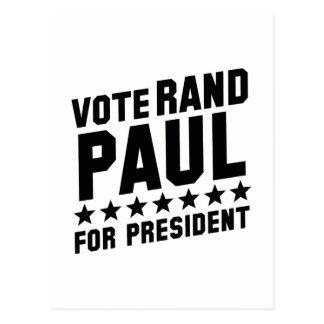 Vote Rand Paul Postcard