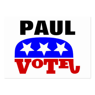 Vote Rand Paul Republican Elephant Large Business Cards (Pack Of 100)