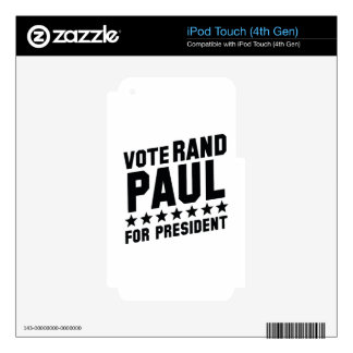 Vote Rand Paul Skins For iPod Touch 4G