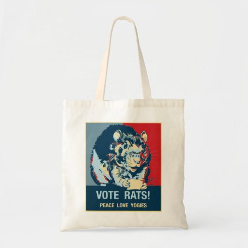 Vote Rats Tote Canvas Bags