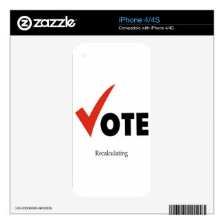 Vote Recalculating Skin For iPhone 4S