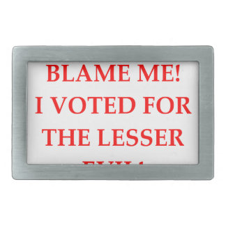VOTE RECTANGULAR BELT BUCKLE