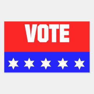 Vote Rectangular Sticker