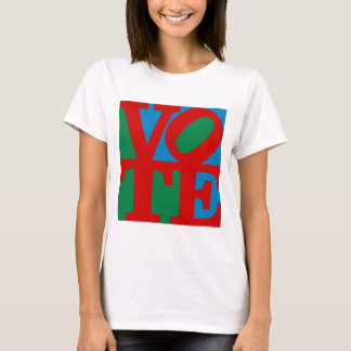 VOTE (red on blue and green) T-Shirt