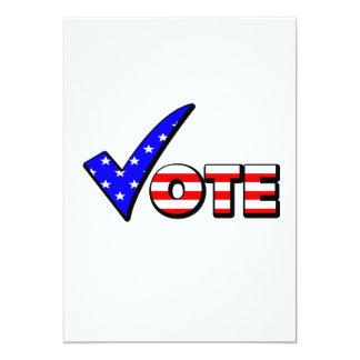 Vote Red White & Blue 5x7 Paper Invitation Card