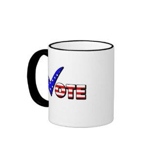 Vote Red White & Blue mug
