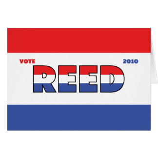 Vote Reed 2010 Elections Red White and Blue Greeting Card