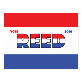 Vote Reed 2010 Elections Red White and Blue Postcard