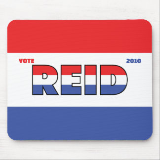 Vote Reid 2010 Elections Red White and Blue Mousepad