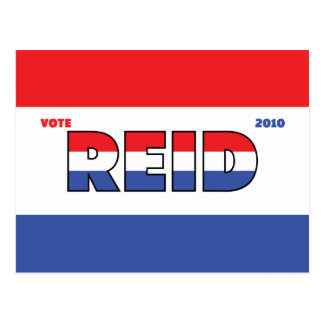 Vote Reid 2010 Elections Red White and Blue Postcard