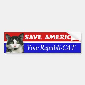 Vote Republi-CAT Bumper Sticker Car Bumper Sticker