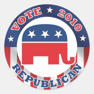 Vote Republican 2010 Sticker