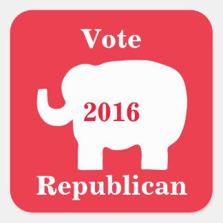 Vote Republican 2016 Election Elephant Red Square Sticker