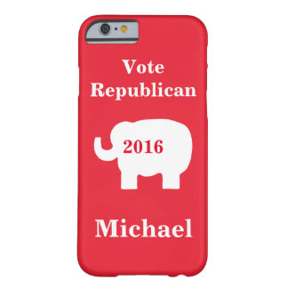 Vote Republican 2016 Name Personalized Red Barely There iPhone 6 Case