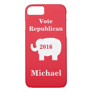 Vote Republican 2016 Name Personalized Red iPhone 8/7 Case