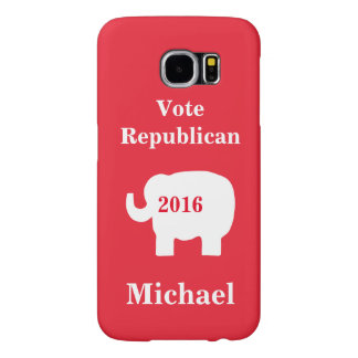 Vote Republican 2016 Name Personalized Red Samsung Galaxy S6 Case