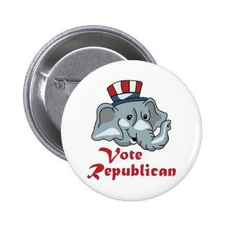 VOTE REPUBLICAN 2 INCH ROUND BUTTON