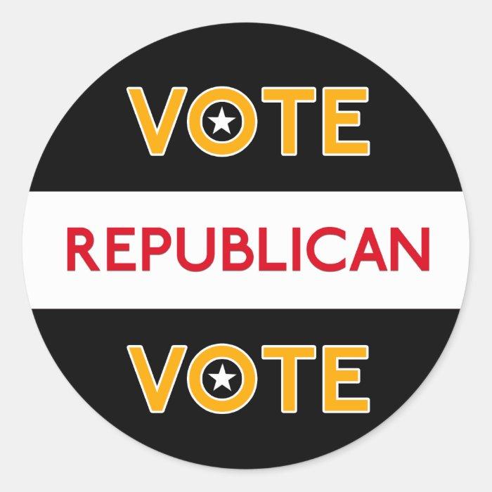 Vote Republican 3 Classic Round Sticker