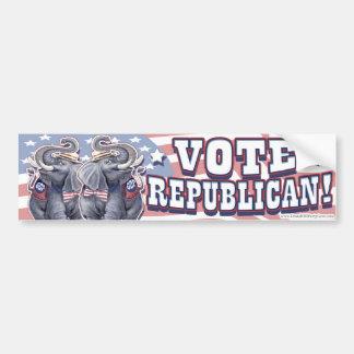 Vote Republican Bumper Sticker Car Bumper Sticker