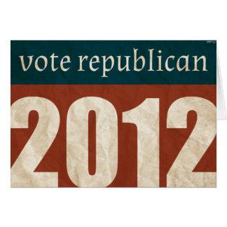 Vote Republican Greeting Card