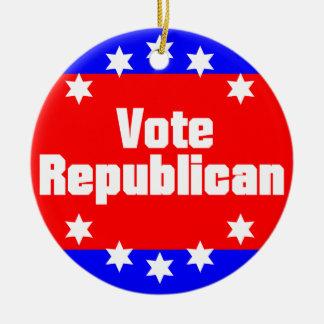 Vote Republican Ceramic Ornament