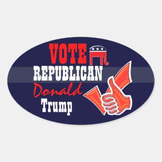 Vote Republican Donald Trump Oval Sticker