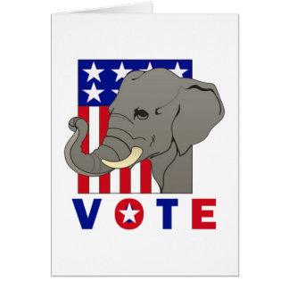 VOTE REPUBLICAN ELEPHANT CARD