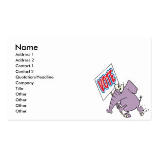 vote republican elephant cartoon business card templates