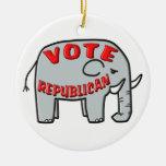 VOTE REPUBLICAN (Elephant) Christmas Ornament