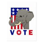 VOTE REPUBLICAN ELEPHANT POSTCARD