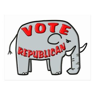 VOTE REPUBLICAN (Elephant) Postcard