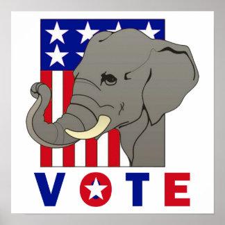 VOTE REPUBLICAN ELEPHANT Poster