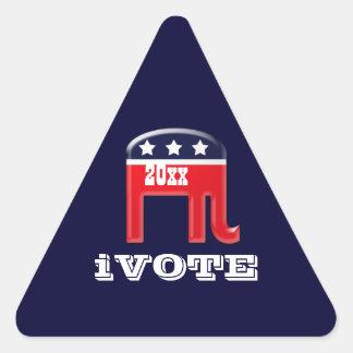 Vote Republican elephant Triangle Sticker