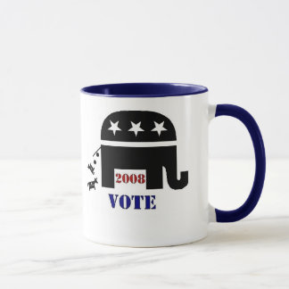 VOTE REPUBLICAN IN 2008 COFFEE MUG
